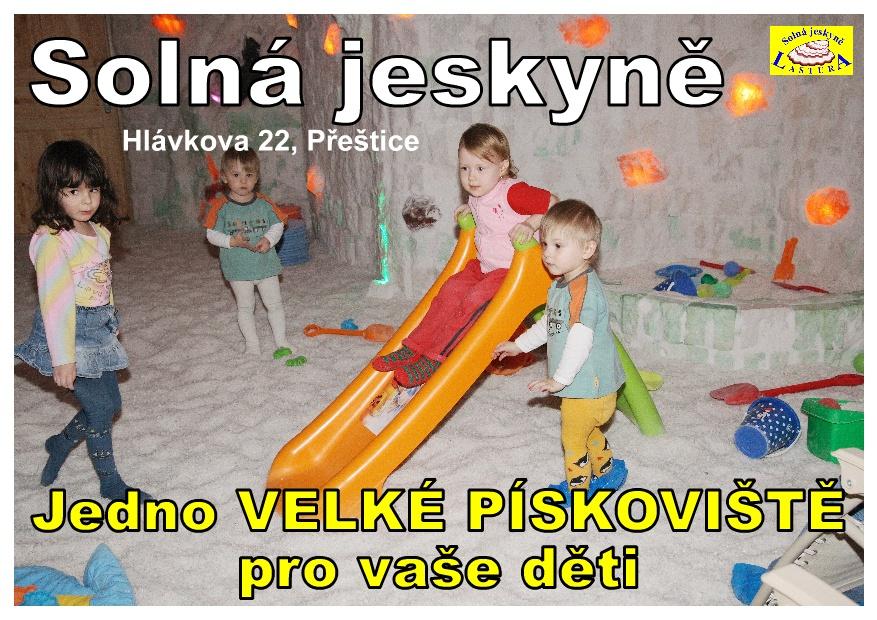 Solná jeskyně Přeštice - jedno VELKÉ PÍSKOVIŠTĚ pro vaše děti