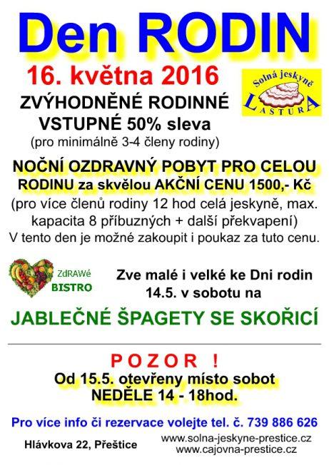 Solná jeskyně Přeštice - Den Rodin